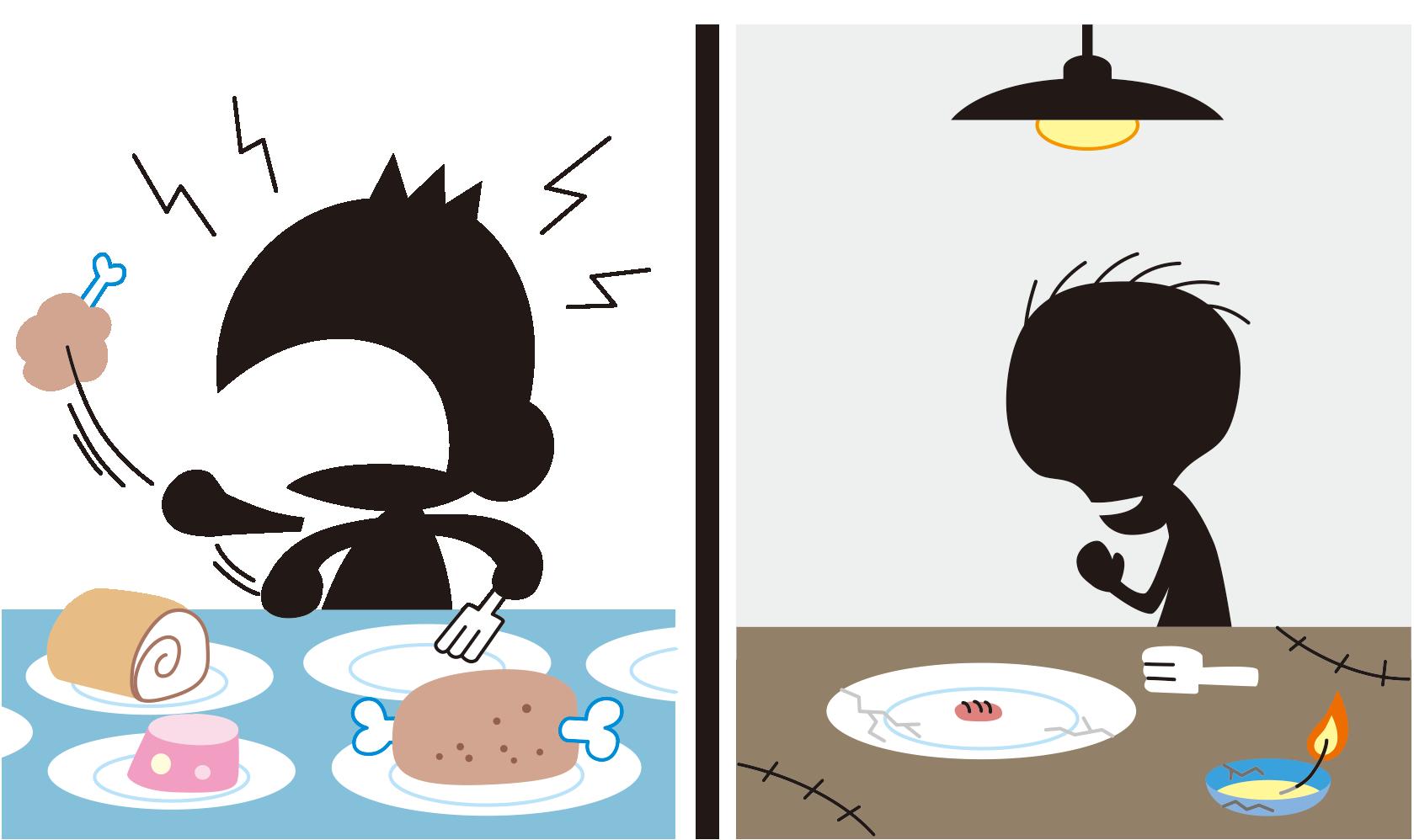 『飢餓・飽食状態と代謝変動』のゴロ・覚え方