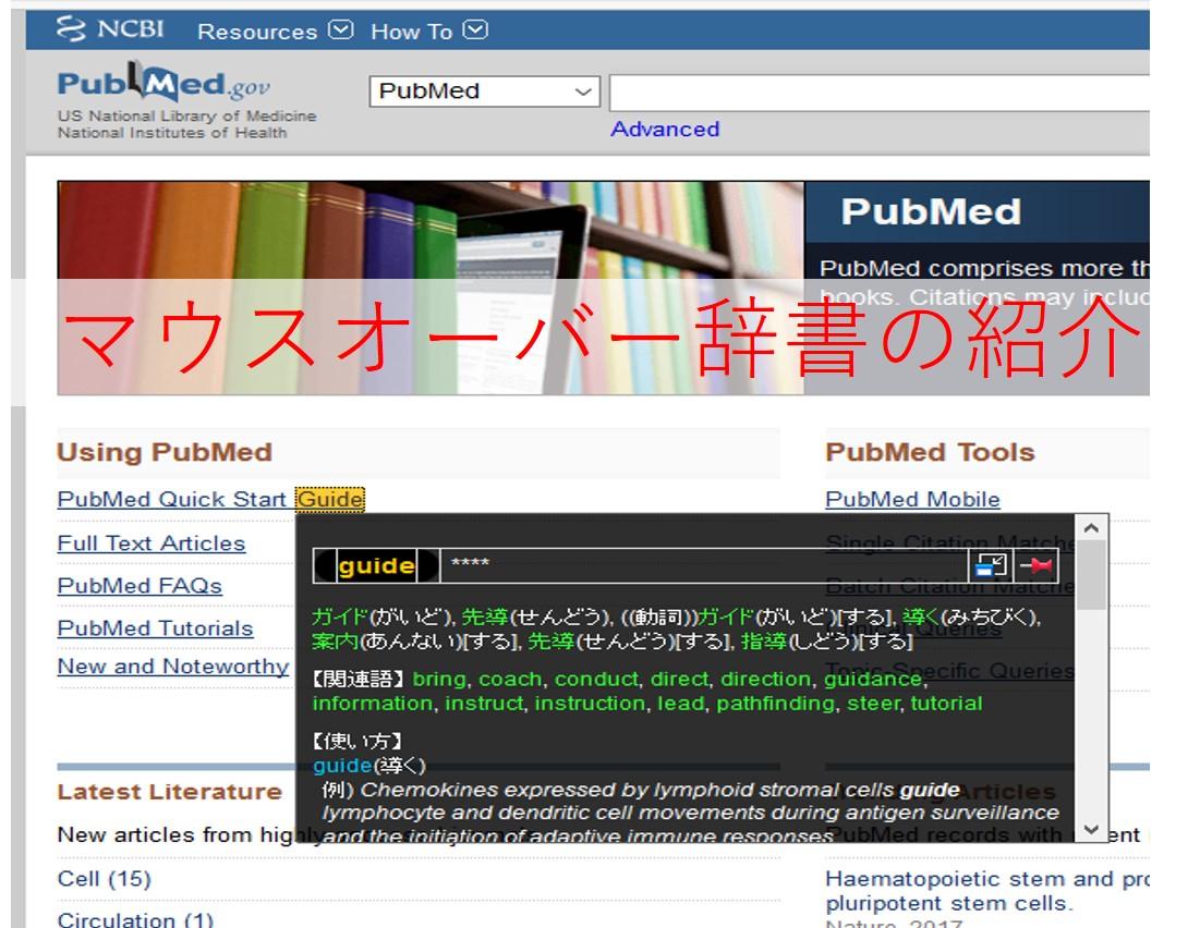 英語の医学論文・文献を早く読む方法【Firefoxマウスオーバー辞書のDLと使い方】